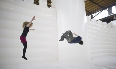 William Forsythe White Bouncy Castle