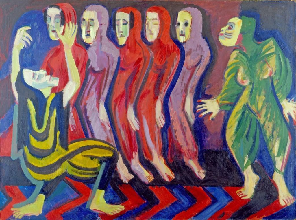 Эрнст Людвиг Кирхнер, Танец смерти Мэри Вигман, 1926/1928